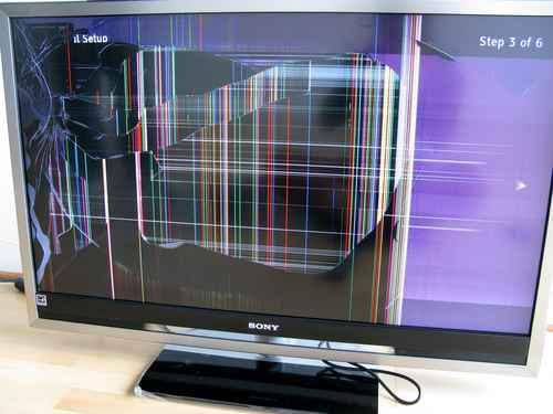 Разбили экран телевизора